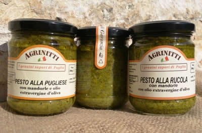 The pesto sauces